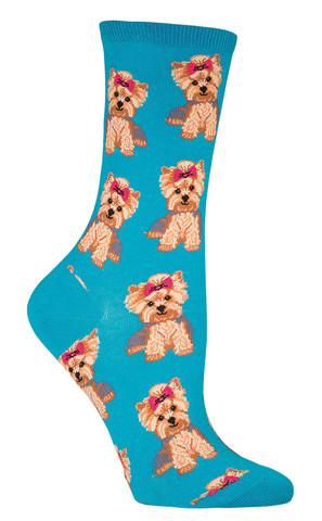 Socksmith_Yorkies_womens_crew_socks_lagoon_Sockdrawer.com_puppy_large