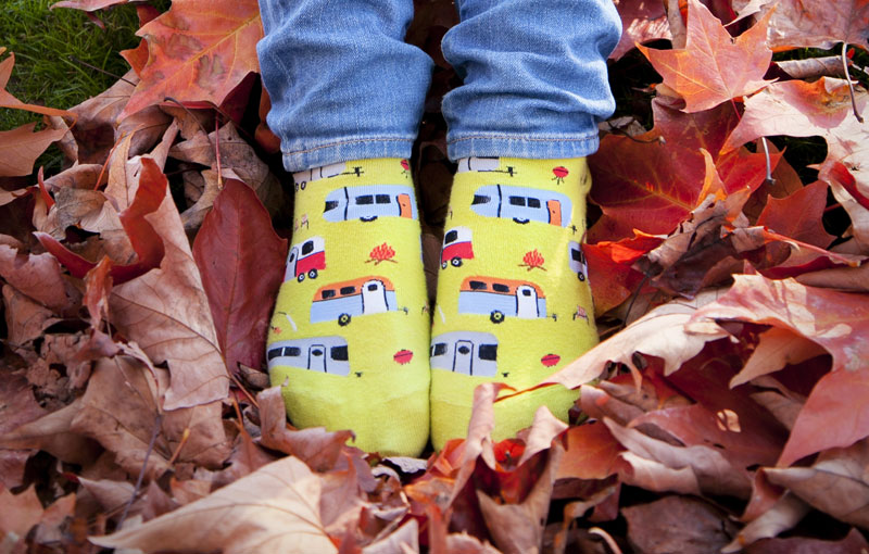 Saying Thank you with Thanksgiving socks