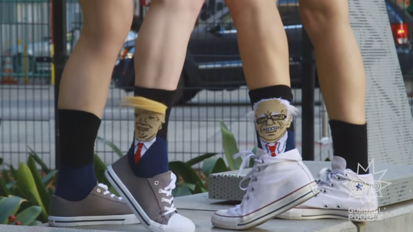 Limited Edition: Donald Trump and Bernie Sanders Hair Socks