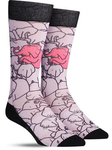 Elephants Moshing Socks | Mens