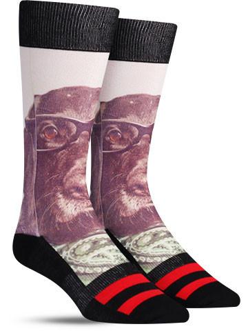 Riley Hipster Dog Socks | Mens
