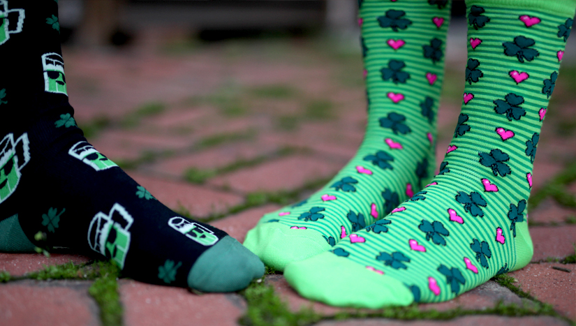 Awesome St. Patrick's Day socks!