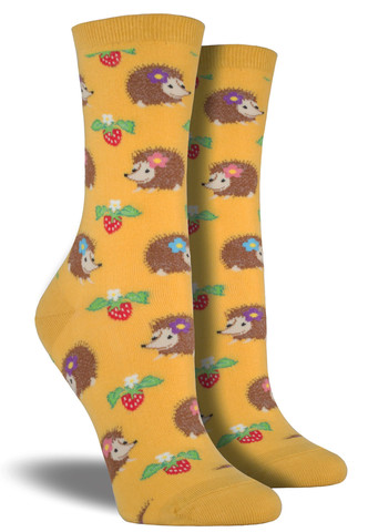 Hedgehog Socks  Gold