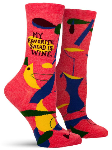 My Favorite Salad is Wine Socks