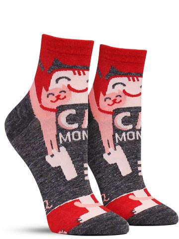 Cat Monster Short Socks