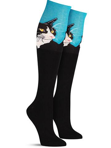 Cat Portrait Knee High Socks