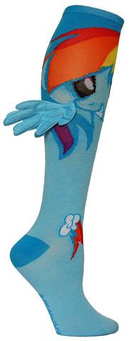 Rainbow Dash with Wings Knee High Socks