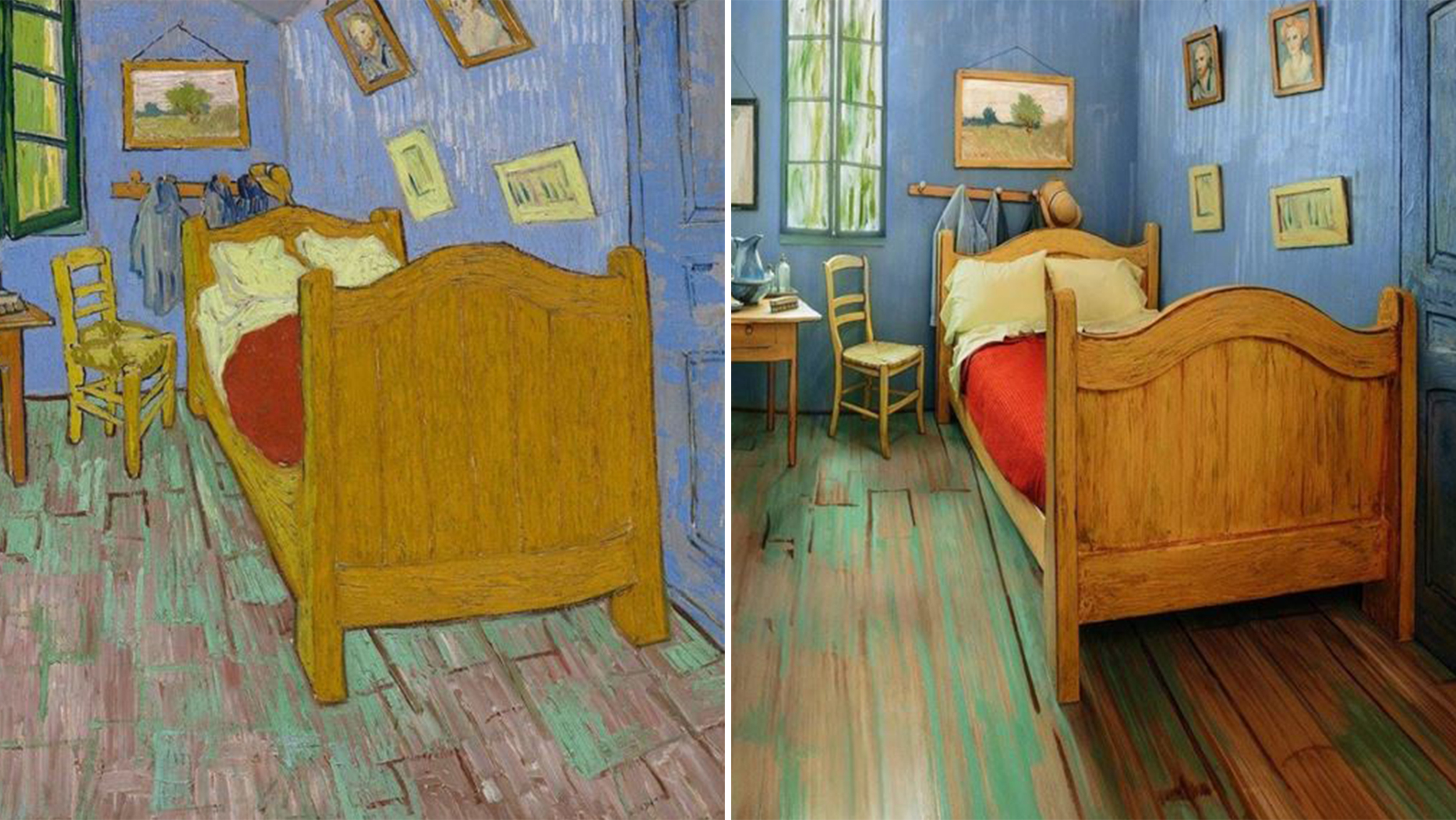 Van Gogh has also been in the headlines lately thanks to a real-life version of his 1889 painting <i>The Bedroom</i>. The Art Institute of Chicago recently created a real-life version of the post-impressionist painting and is allowing fans to stay in the Airbnb room for only $10 a night. Complete with surreal features and identical furniture, the room enables art lovers to fully immerse themselves in the famous painting for the first time. Although the room is booked well into the next few years, it's OK to dream.