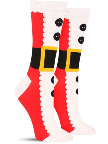 Santa Christmas Suit Socks