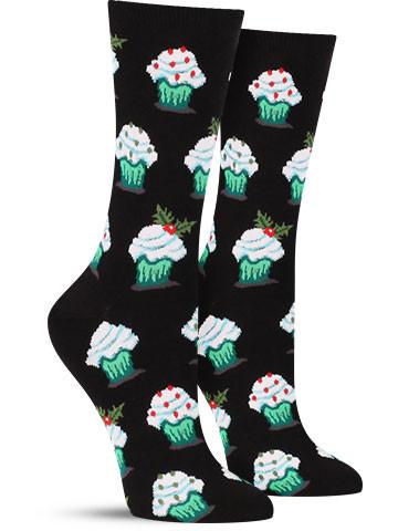 Christmas Cupcake Socks