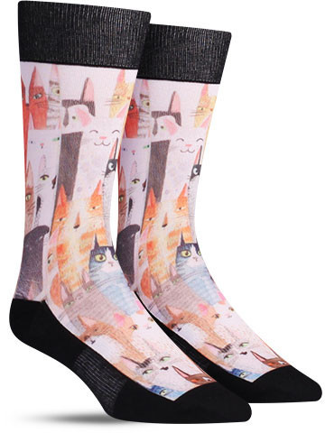 Cat Party Socks | Men's
