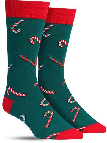 Candy Cane Christmas Socks | Men's