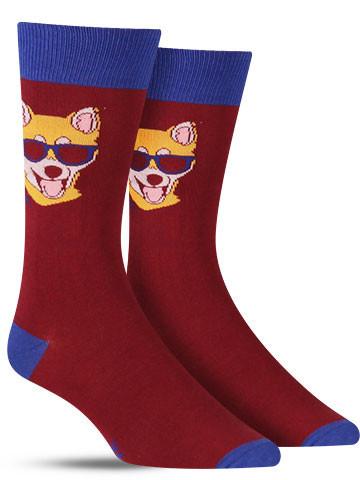 Hipster Dog Socks | Men's