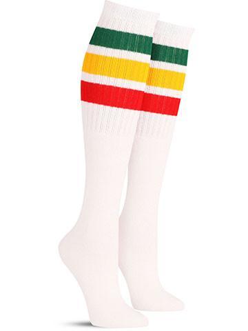 White with Rasta Stripes
