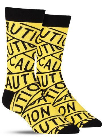 Caution Tape Socks | Men's