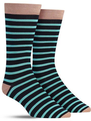 Bamboo Sailor Stripe Crew Socks | Men's