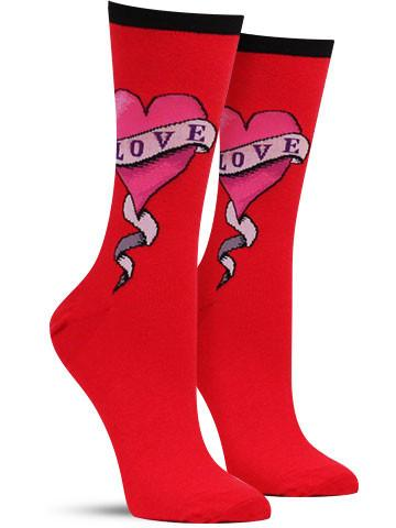 Love Tattoo Socks
