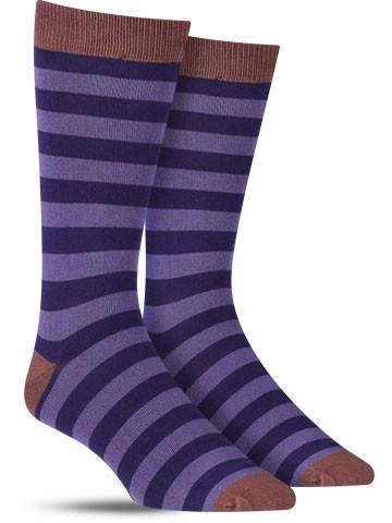 Bamboo Stripe Crew Socks | Men's