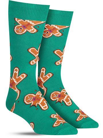 Gingerdead Men Christmas Socks | Men's