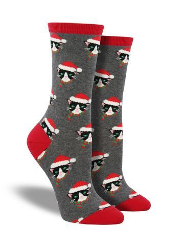 Santa Christmas Cats Socks