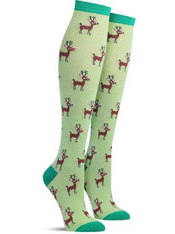 88056abd6f9 Reindeer Christmas Games Knee High Socks