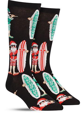 surf santa christmas socks - Christmas Socks For Men