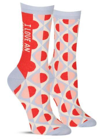 I Love An Easy Challenge Socks