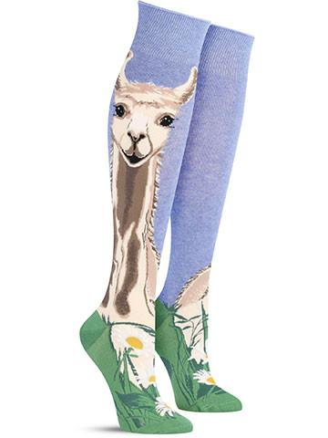 de05189ac Funny Lovely Llama Knee High Socks for Women