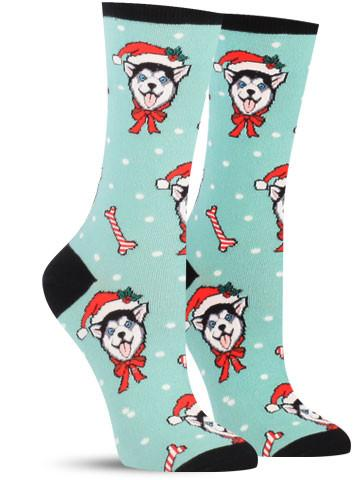 Christmas Huskies Socks