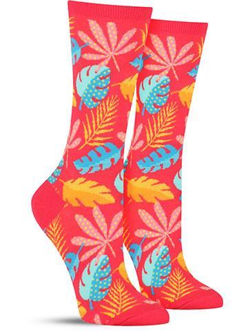 Pattern Leaves Socks