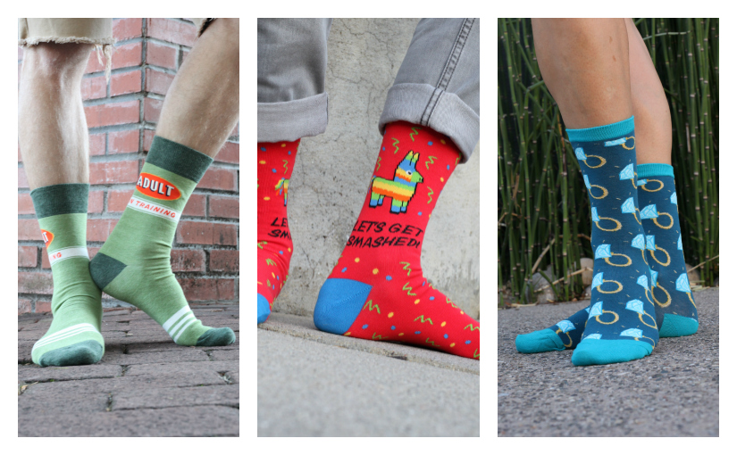 Fun & Funky Socks for Your Wedding Party
