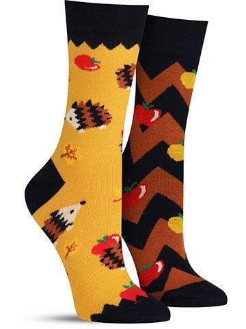 Apple Hedgehog Socks | Women's