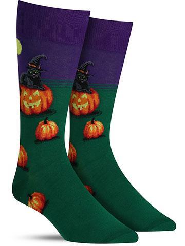 Cat Witch Socks | Men's