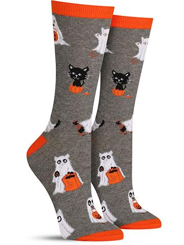 Cat and Dog Ghosts Socks | Women's
