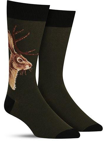 jackalope crazy animal socks for men