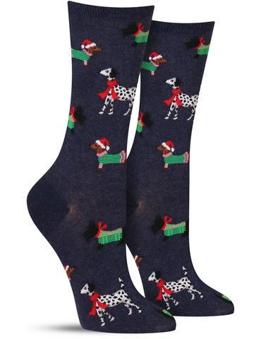 Christmas Dog Socks | Women's