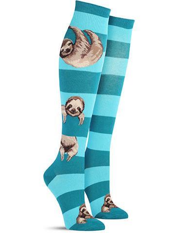Sloth Stripe Knee High Socks | Women's