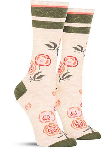 Rosey Posey Wool Socks | Women's