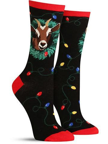 The Goat Who Ate Christmas Knee Highs | Women's