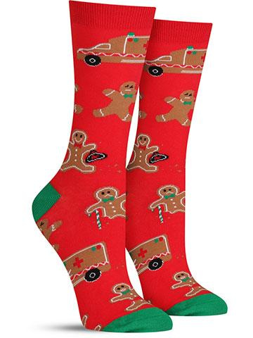 Christmas Break A Leg Socks | Women's