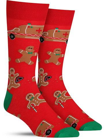Christmas Break a Leg Socks | Men's