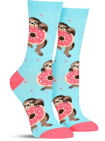 Snackin' Sloth Socks | Women's