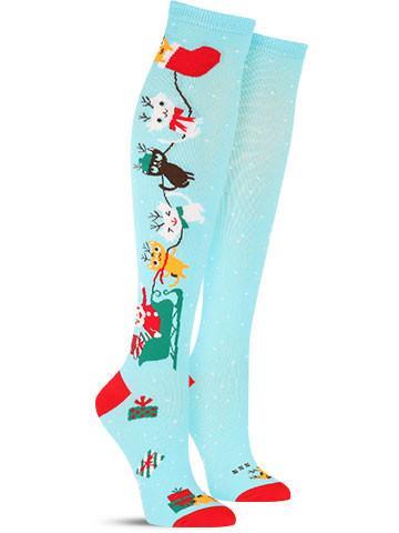 Christmas Jingle Cats Knee High Socks | Women's