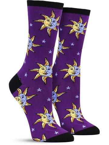 Celestial Moon & Sun Socks