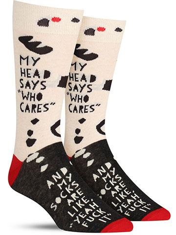 My Head Says Who Cares Socks
