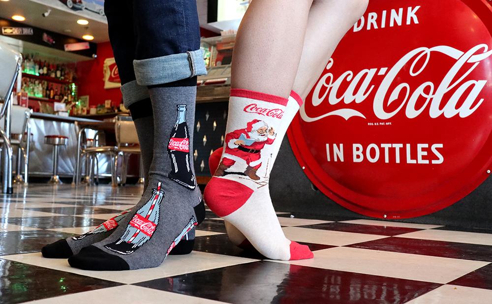 Pop on a Pair of Refreshing Coke Socks