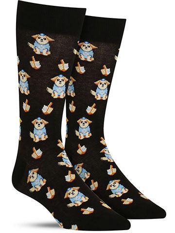 Dreidel Dog Socks | Men's