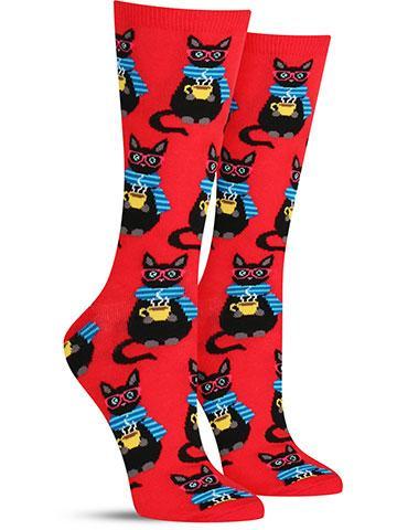 Coffee Cat Socks | Women's