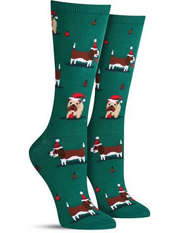 Christmas Doggies Socks | Women's