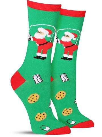 Milk and Cookies Christmas Socks | Women's